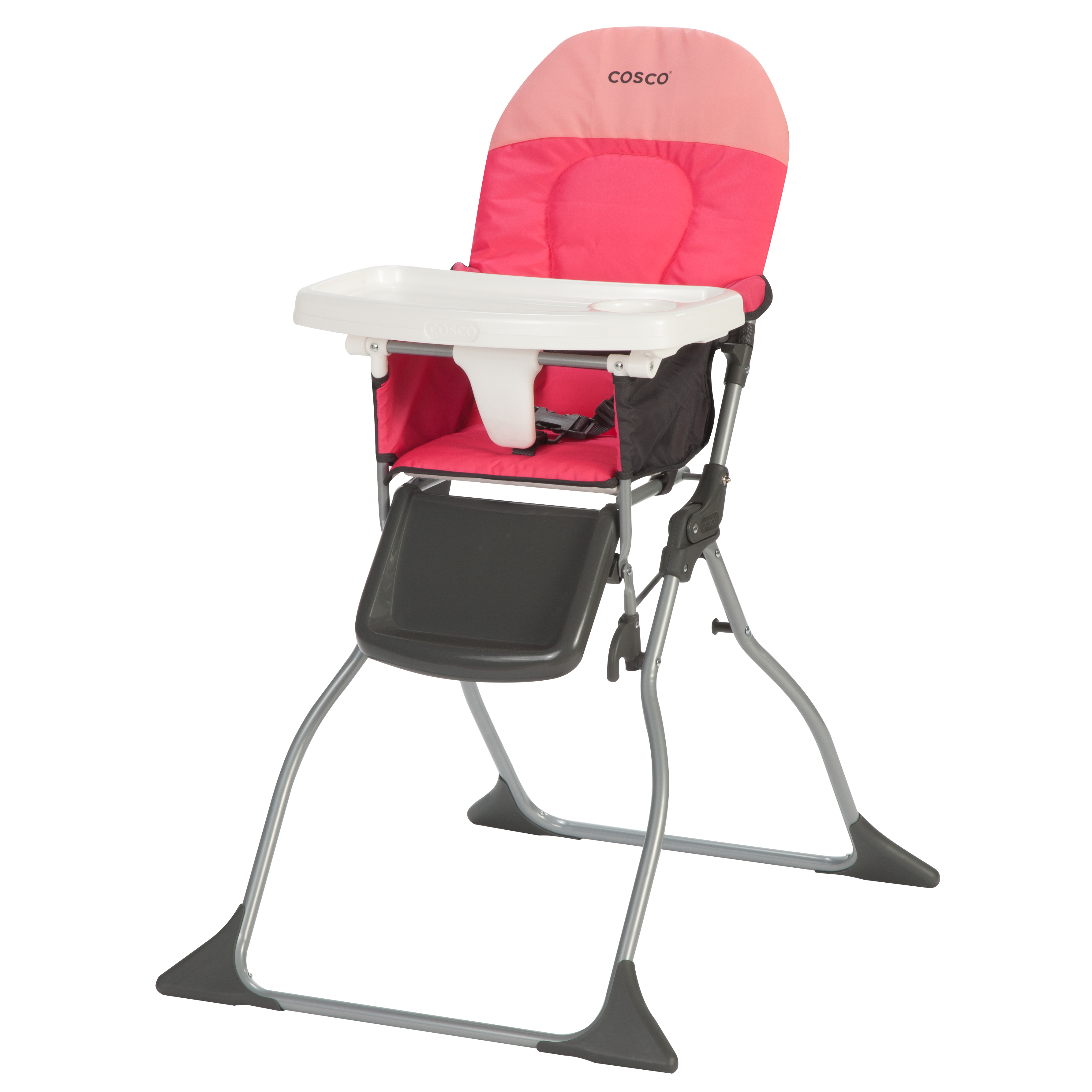 Cosco Simple Fold High Chair Colorblock Coral Walmart