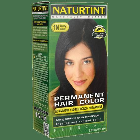 Naturtint Permanent Hair Color - 1N Ebony Black 1 (Best Box Color For Black Hair)