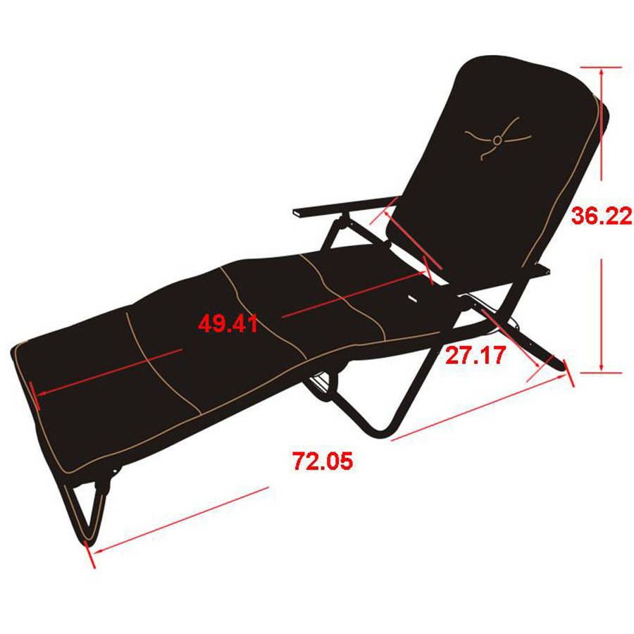 Awesome Mainstays Sand Dune Outdoor Padded Folding Chaise Lounge Tan Walmart Com Unemploymentrelief Wooden Chair Designs For Living Room Unemploymentrelieforg