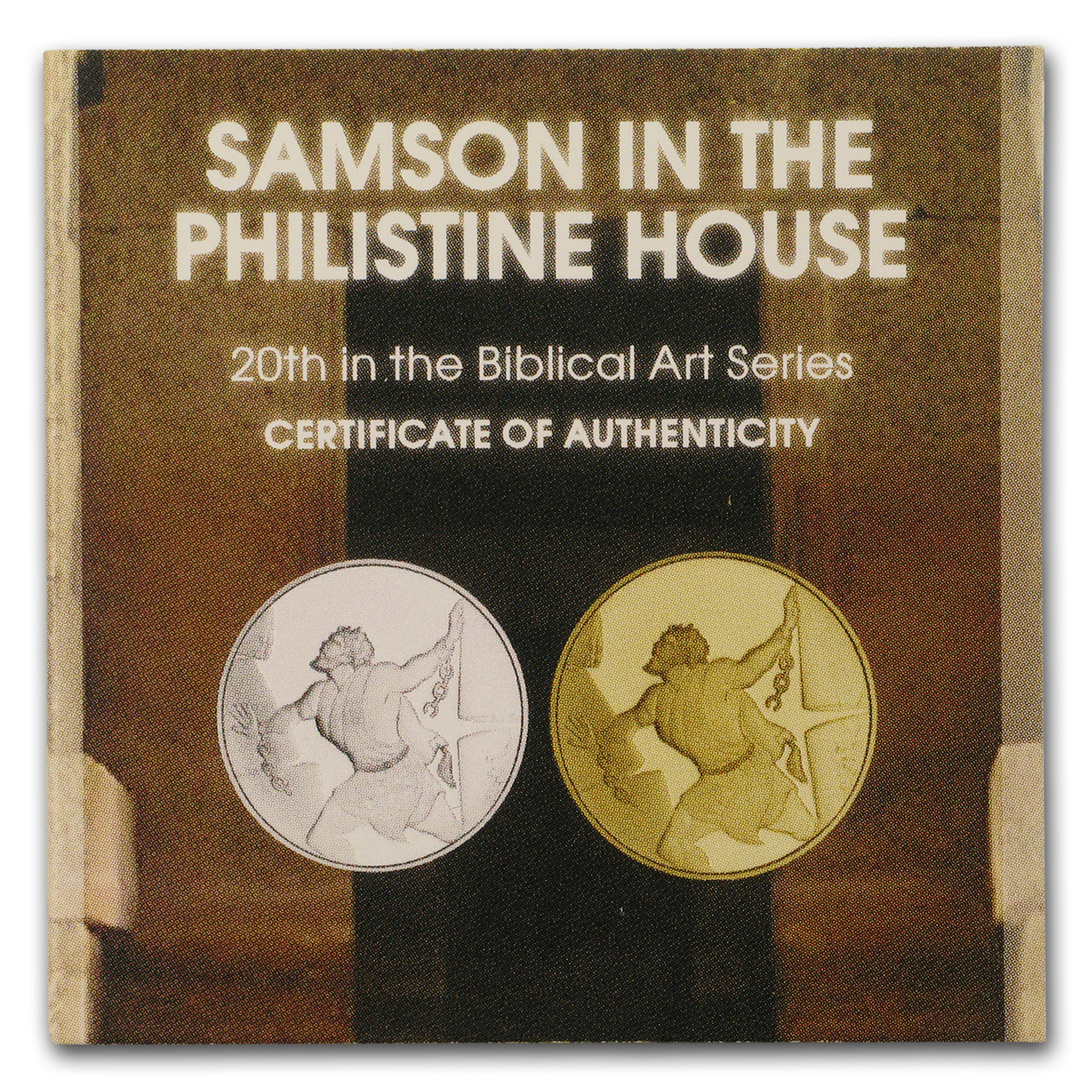 Samson in the Philistine House Smallest Gold Coins Israel 2016 Collectible