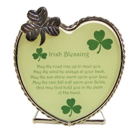 Irish Blessings Candle Holder - May the Road Rise up to Meet You Poem