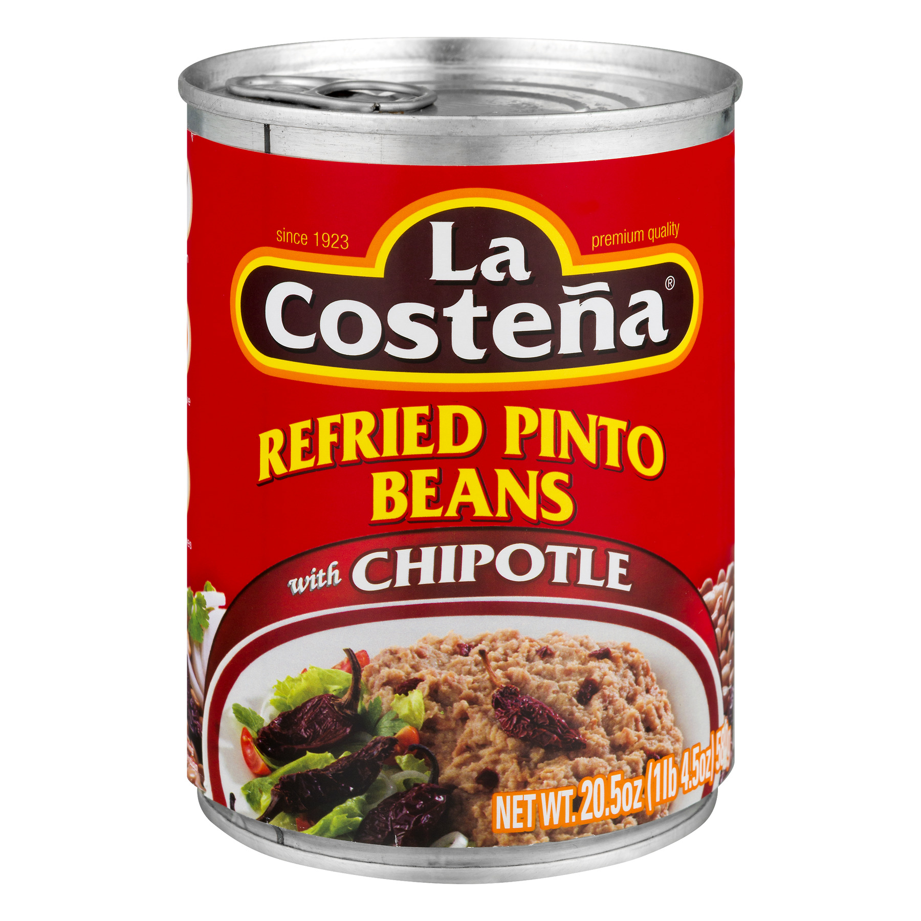 La Costena Refried Pinto Beans With Chipotle, 20.5 Oz