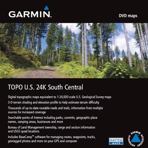 Garmin Topo U.s. 24k South Central Digital Map - North America - United Arab Emirates - Arkansas, Oklahoma, Texas, Kansas, Missouri - Lake, River - Boating, Fishing, Driving (010-11317-00)