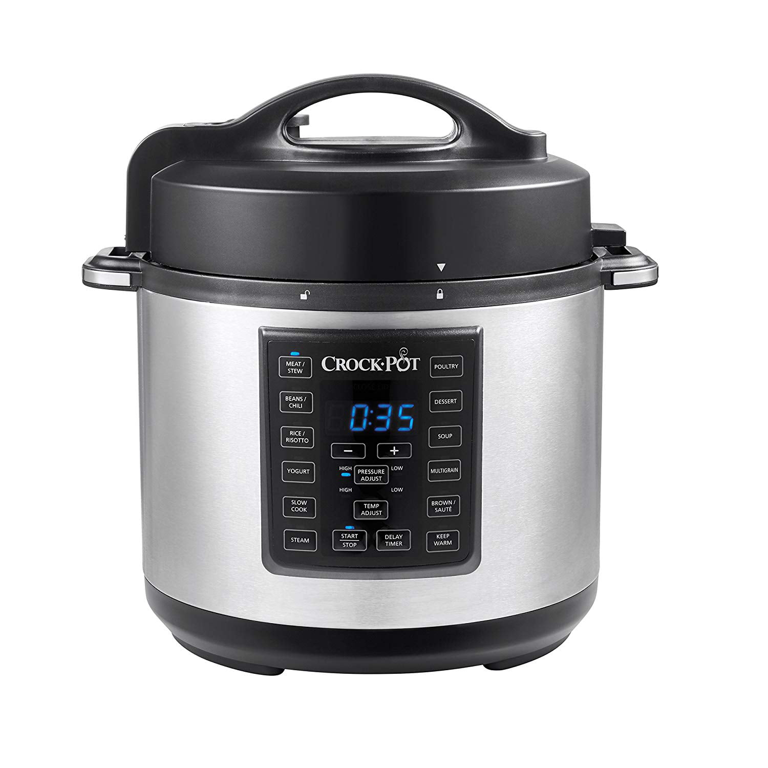 Crock-Pot 6 Qt 8-in-1 Multi-Use Express Crock Programmable Slow Cooker, Pressure Cooker, Sauté, and Steamer,... by Newell