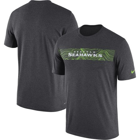 Heathered Performance T-shirt (Seattle Seahawks Nike Sideline Seismic Legend Performance T-Shirt - Heathered Charcoal)