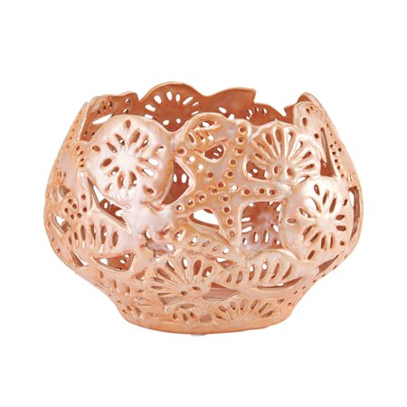 Elements 10 Inch By 7 Inch Pink Coral Ceramic Bowl