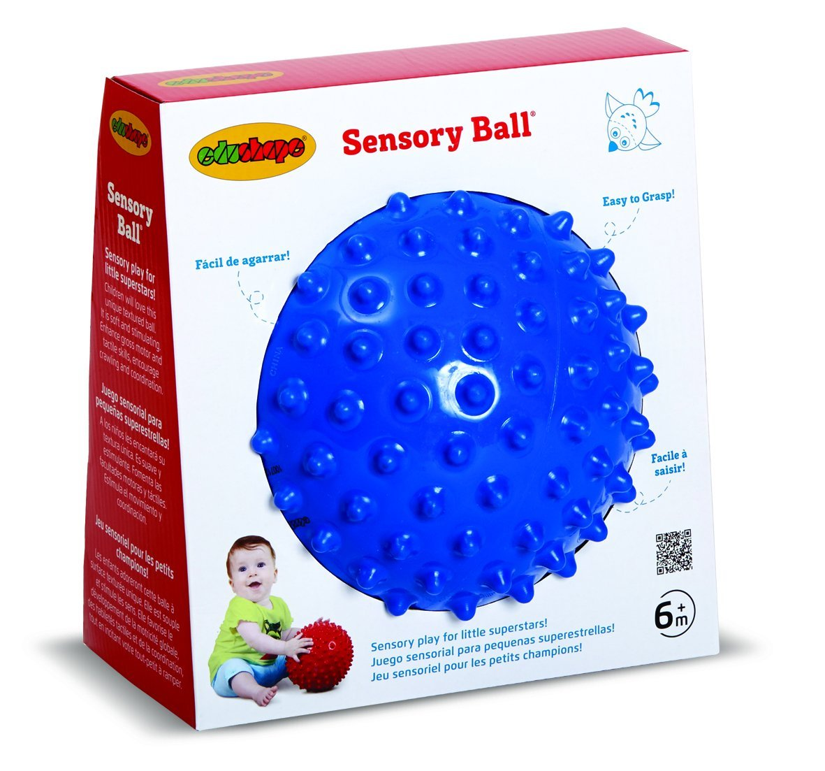 See-Me Sensory Ball, 7 Inch, Colors May Vary, Great for sensory development By Edushape