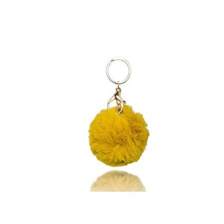 Jewels Fashion Cute Fur Ball Pom Pom Keychain for Car Key Ring Handbag Tote Bag Pendant Charm Gift - Cute Keychains For Car Keys