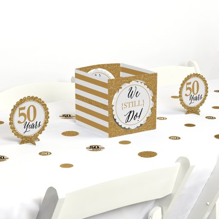 We Still Do - 50th Wedding Anniversary - Party Centerpiece & Table Decoration Kit (50th Wedding Anniversary Table Centerpieces)