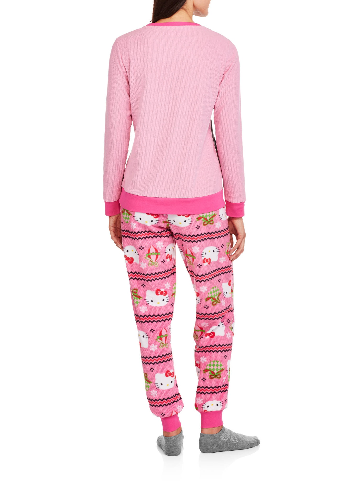 Womens Fleece Ugly Sweater Pajamas Holiday Sleep Set - Walmart.com