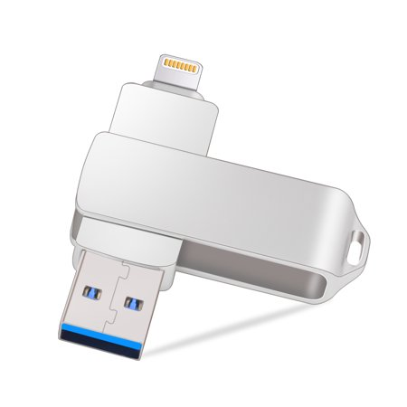 iPhone USB Flash Drive, KOOTION 64GB Dual iOS iPad USB Flash Drive, USB 3.0 Lightning External Storage Memory Stick for iPhone iPad MacBook iOS Windows PC (Express Dual Memory)