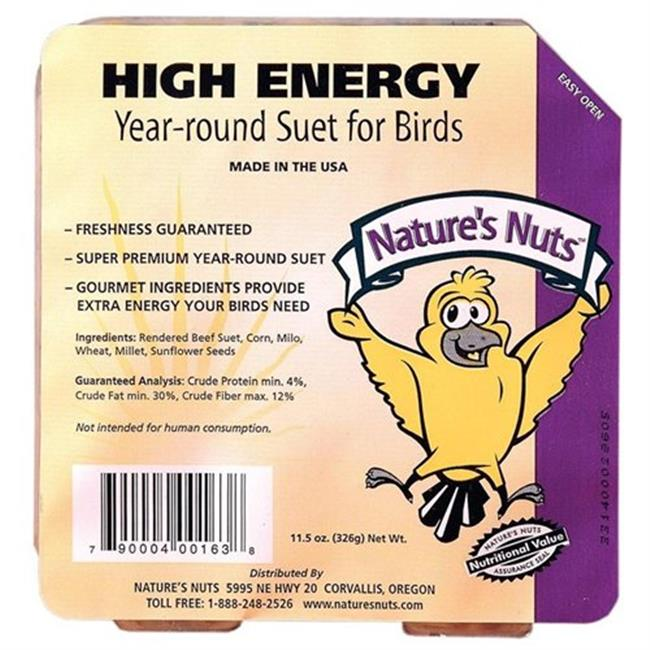 Chuckanut Products 00163 11. 5 Oz High Energy Suet - Case of 12