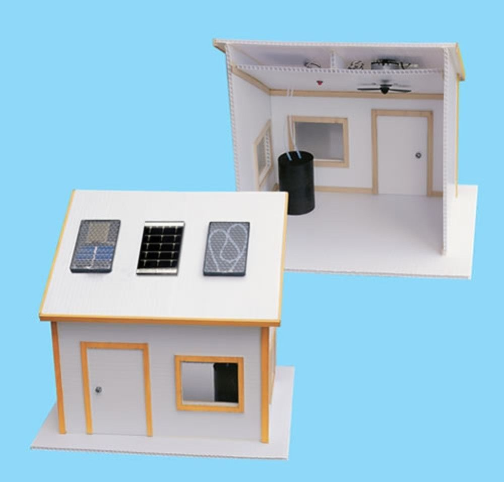 Solar Made Electric Kit for Science Fair Project Build Environment Friendly Home