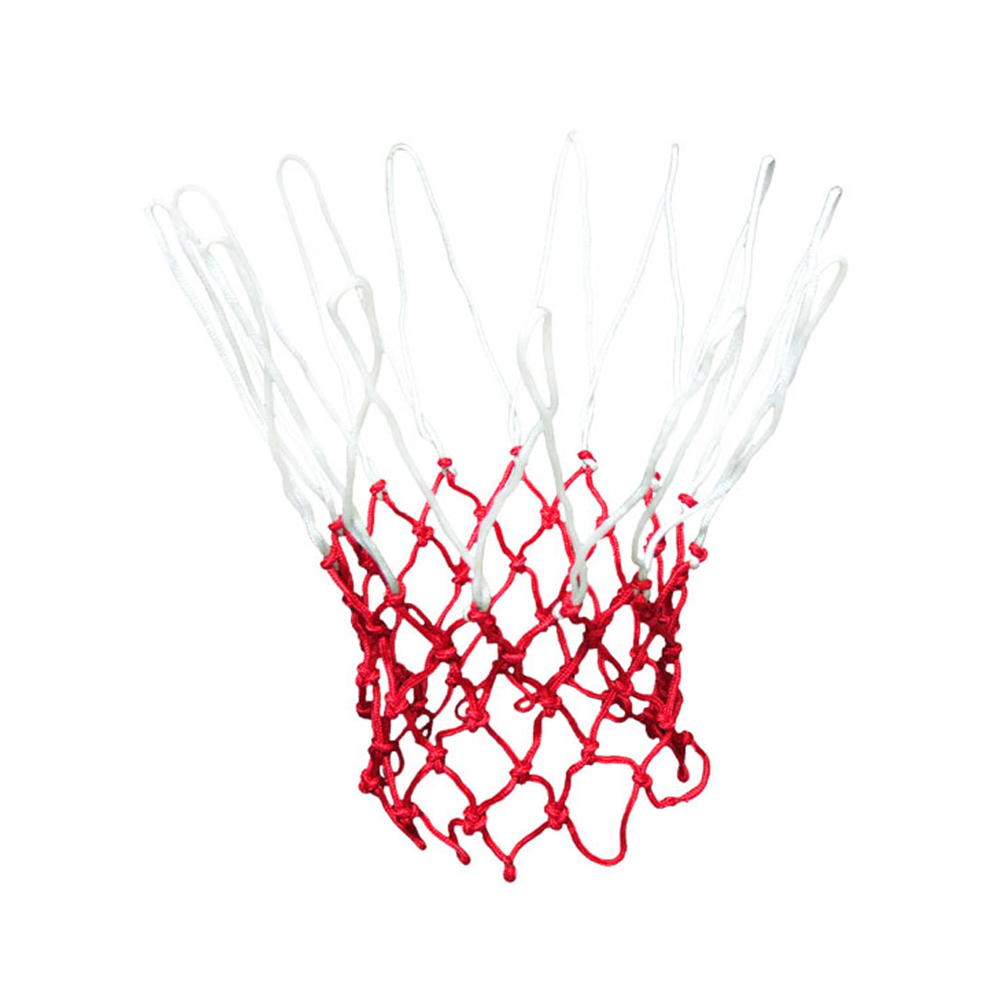 "19"" Long All-Weather Nylon Knotted Basketball Net Great Replacement White Red"