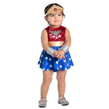 Baby Wonder Woman Dress & Diaper Cover Set (Baby Costumes)
