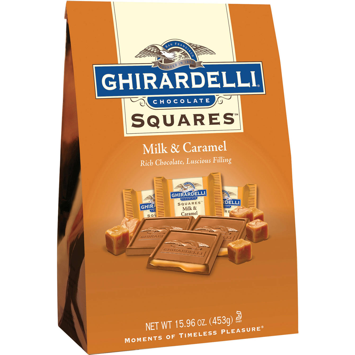Ghirardelli Squares Milk Chocolate & Caramel, 15.9 oz by Ghirardelli Chocolate Company