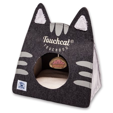 Touchcat 'Kitty Ears' Travel On-The-Go Collapsible Folding Cat Pet Bed House With -