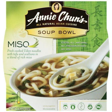 Aunt Chun's Miso Bowl Soup, 5.4 oz (Best Vegetarian Noodle Soup)
