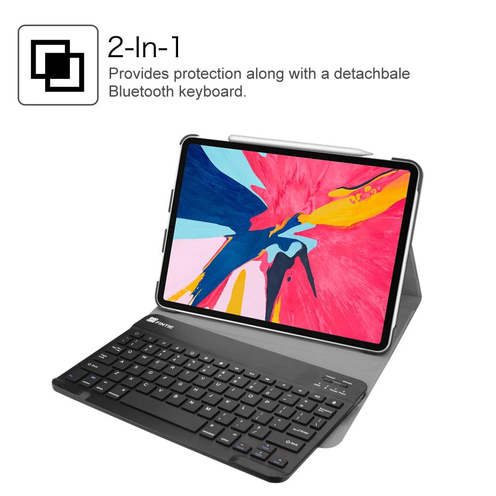 Sky Blue Magnetically Detachable Wireless Bluetooth Keyboard