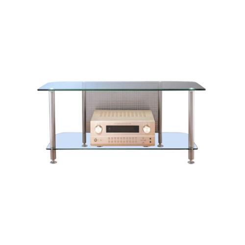 VTI AGR Series Metal and Tempered Glass Plasma\/LCD TV Stand-Silver