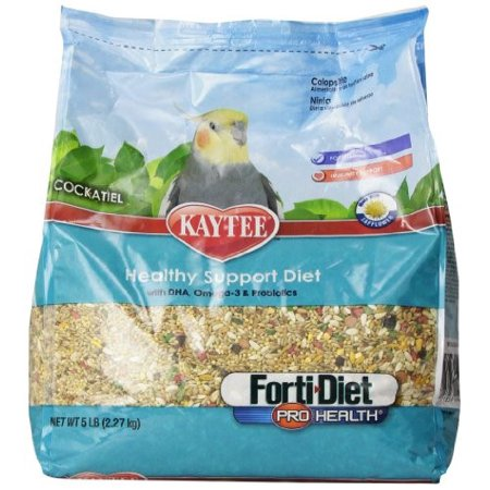 Kaytee Forti Diet Pro Health with Safflower Cockatiel Bird Food, 5 Lb