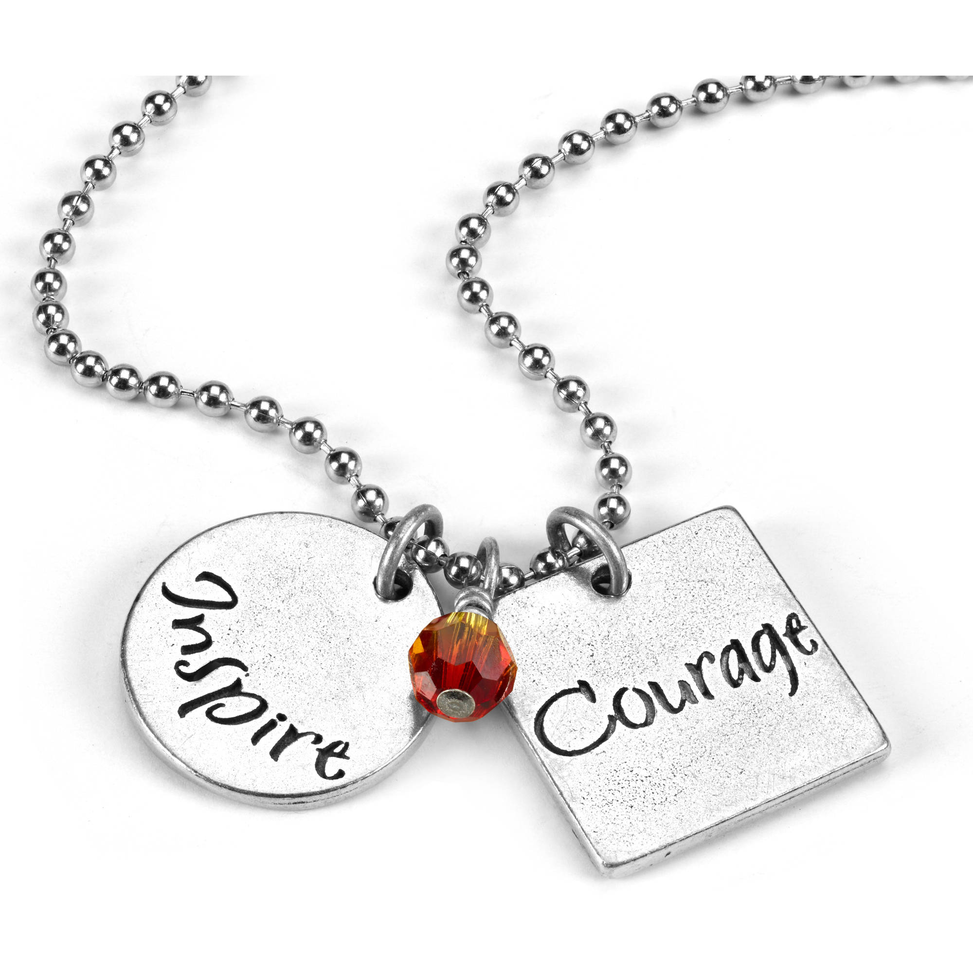 Inspirational Silver Tone Necklace by Women's Bean Project