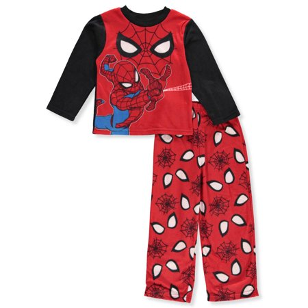 Boy's Spiderman 2 Piece Long Sleeve Pajama Sleep Set (Big Boys & Little Boys) (The Amazing Spider Man Suit For Kids)