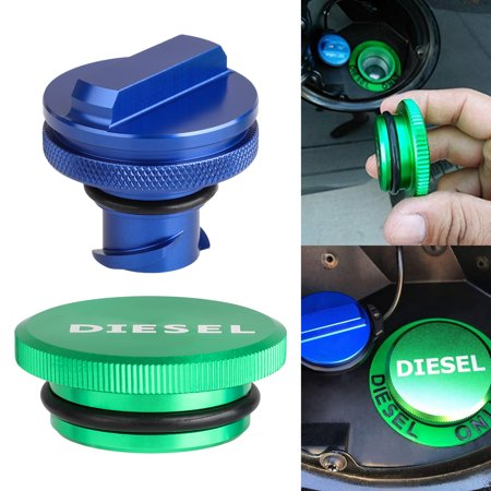 Combo Pack Magnetic Diesel Fuel Cap + DEF Cap Accessory for Dodge RAM Truck 1500 2500 3500 (2013-2018) with 6.7 CUMMINS EcoDiesel, New Easy Grip Design