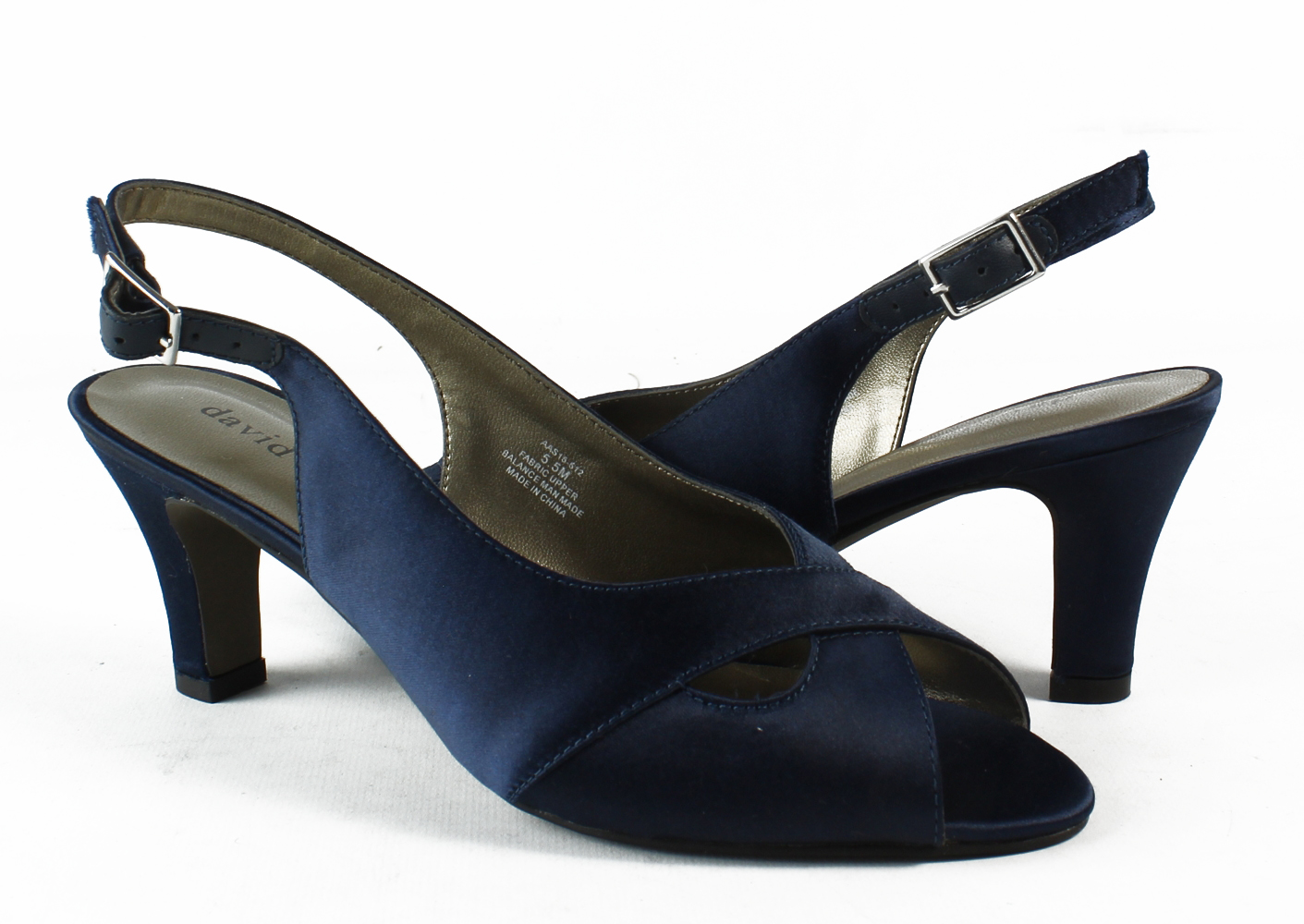 3c5f05196f6 David Tate - New David Tate Womens Palm-410 Navy Peep Toe Heels Size 5 -  Walmart.com