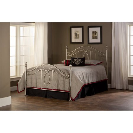 Hillsdale Milano Full Poster Bed in Silver