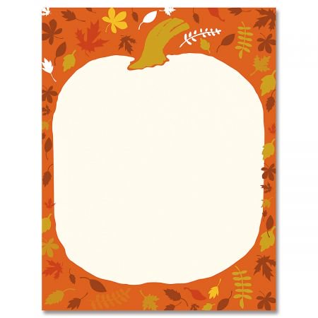 Pumpkin Head Halloween Letter Papers- 25 Sheets of of Halloween Letter Papers, Newsletter, Announcement, and Invitation](Halloween Kids Invitations)