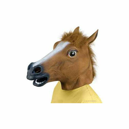 Accoutrement Horse Head Mask - Brown Wolf Mask