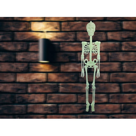 Halloween, Hunted House Giant Glow-in-the-Dark Skelton. Halloween, Haunted house, Scary event, Home, Office, Classroom, Decors. Product Size: 11.5 x 56 x 0.5