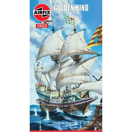 Airfix 09258V English Galleon Golden Hind 1/72 Scale Plastic Model Kit ()