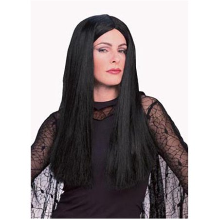 Halloween Family Portraits (Deluxe Addams Family Morticia Wig Adult Halloween)
