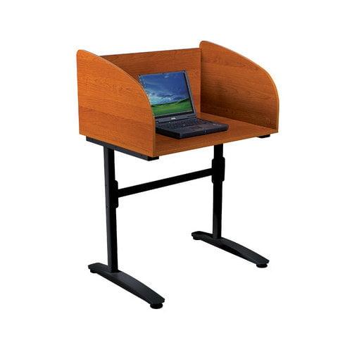 Bundle-94 Balt Black Cherry Lumina Laminate Study Carrel Desk Starter (Set of 2)