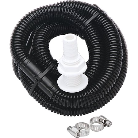 Bilge Pump Plumbing Kit 1-1/8 X 6 Foot, RV ECOSwitch 41997 Clamps Way Bilge Auto Marine Allinone Yacht 12V 118 X Hose gph Plumbing Installation 5Ft Warranty Johnson.., By SeaSense (Marine Bilge Hose)