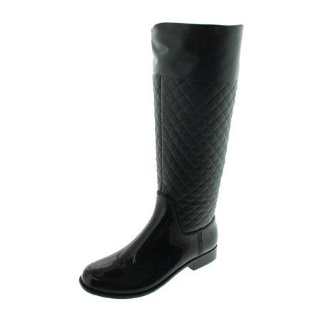 - GreenBox Official Women Black Tall Original Fashion Rain Boots Heel Boot