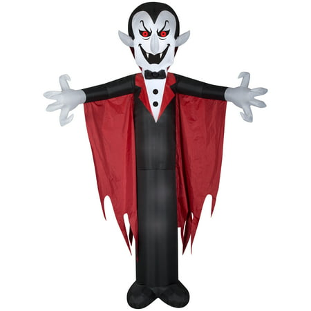 Halloween Airblown Inflatable Vampire with Cape 12FT Tall by Gemmy Industries - Halloween Receptionist