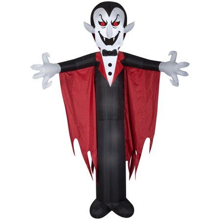 Halloween Airblown Inflatable Vampire with Cape 12FT Tall by Gemmy - Halloween Inflatables 2017