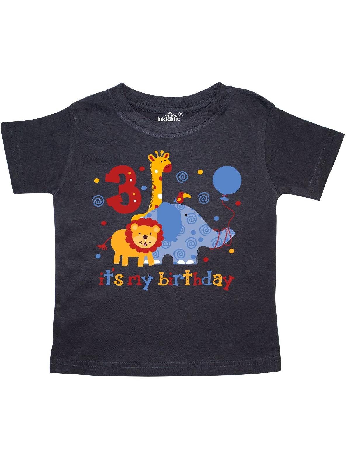 Safari 3rd Birthday Toddler T-Shirt