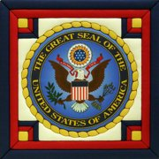 """Great Seal Of The United States Quilt Magic Kit-12""""X12"""""""