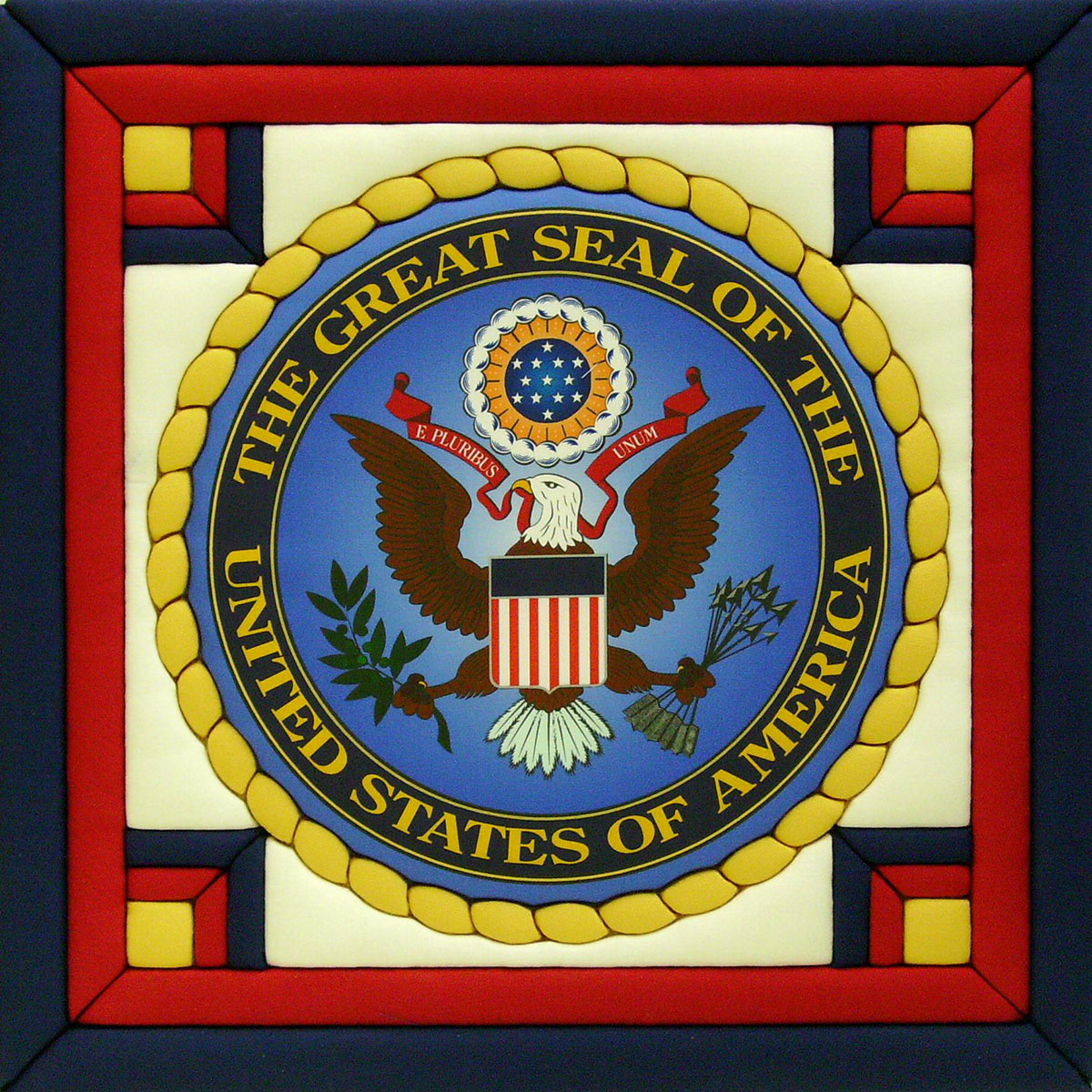 "Great Seal Of The United States Quilt Magic Kit-12""X12"""