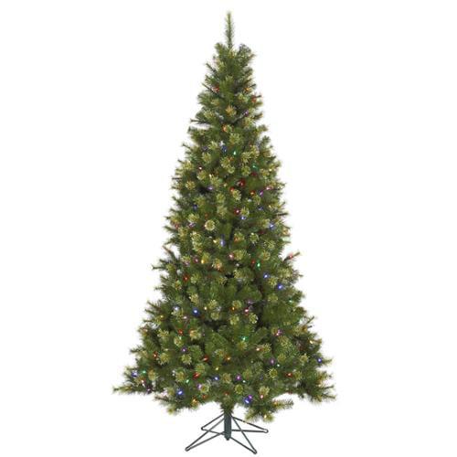 8.5' Pre-Lit Slim Jack Pine Artificial Christmas Tree - Multi-Color LED Lights