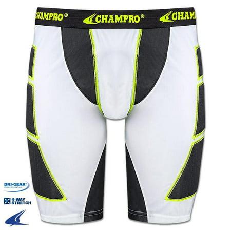 Champro On Deck Mens Sliding Short, White Large
