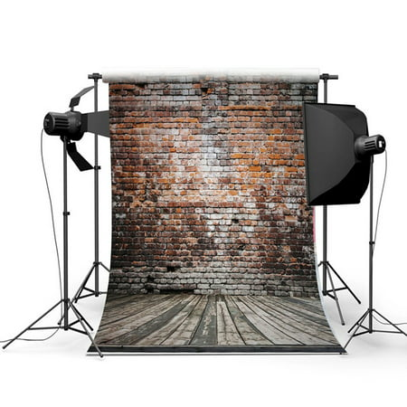NK HOME Studio Photo Video Photography Backdrops 5x7ft Rugged Brick Printed Vinyl Fabric Background Screen Props - Photo Back Drop