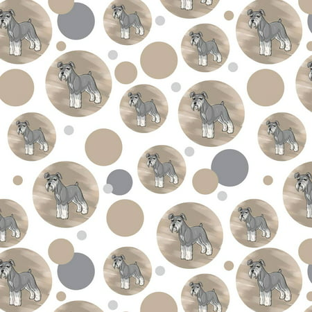 Miniature Wrapping Paper (Miniature Schnauzer Pet Dog Premium Gift Wrap Wrapping Paper Roll Pattern)