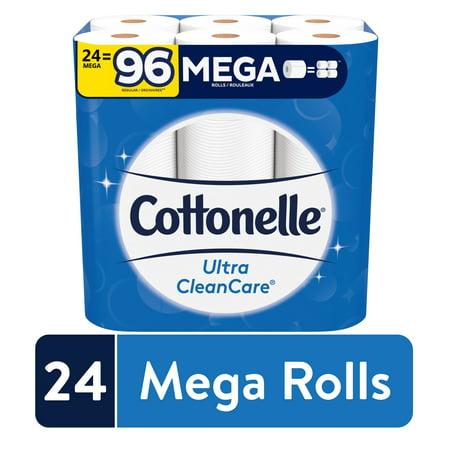 Cottonelle Ultra CleanCare Mega Roll Toilet Paper, Strong Bath Tissue