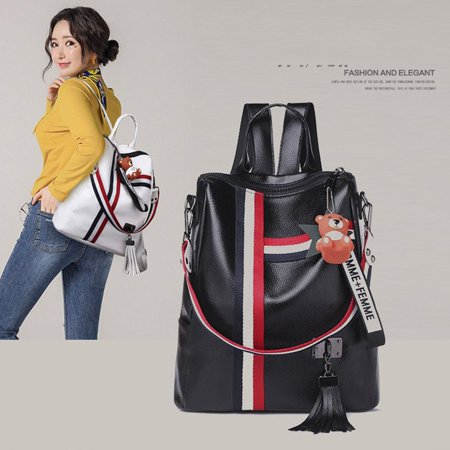 Korean Fashion Casual Dual-Use Bag Small Fresh Soft Leather Women'S Backpack - image 10 de 10