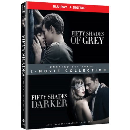 Fifty Shades Of Grey   Fifty Shades Darker 2 Movie Collection  Unrated Edition   Blu Ray   Digital